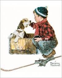 Rockwell boy and dog